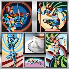 I'm working on a painting or two inspired by this artist, Mark Webster.