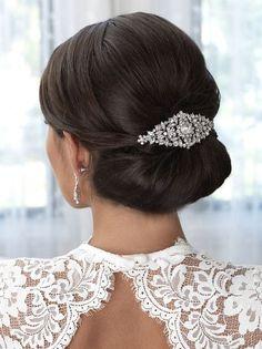 Wedding Hair Clips, Wedding Hair And Makeup, Wedding Updo, Wedding Vows, Wedding Dresses, Wedding Anniversary, Anniversary Gifts, Bridal Comb, Bridal Hair Pins