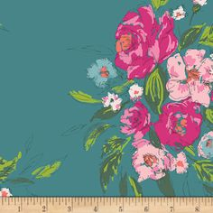 Extempore in Gala RAYON fabric from the Signature collection designed by Sharon Holland for Art Gallery Fabrics. SKU Shop now at Stash Fabrics! Canvas Fabric, Fabric Art, Cotton Canvas, Fabric Design, Teal Fabric, Draped Fabric, Floral Fabric, Gala Design
