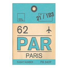 BuyNick Cranston - Luggage Labels: Paris Unframed Print with Mount, 40 x 30cm Online at johnlewis.com