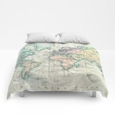 Vintage Map of The World (1801) Comforters