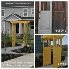 Vintage Doors turned amazing arbor