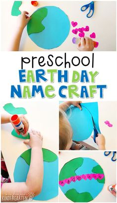 Plemons' Kindergarten art projects for kids earth day preschool crafts Earth Craft, Earth Day Crafts, Earth Day Activities, Art Activities For Kids, Nature Activities, Learning Activities, April Preschool, Preschool Crafts, Kindergarten Crafts