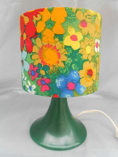 70er Jahre Tischlampe Lampe 70s table lamp FLOWERS Rockabilly Tulip Tulpenfuß