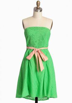 Orchard Stroll Strapless Dress