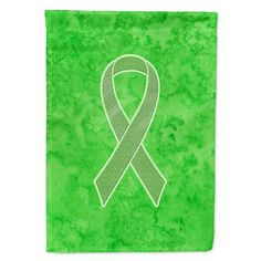 Caroline's Treasures Lime Green Ribbon for Lymphoma Cancer Awareness Flag Garden Size at Lowe's.The Garden size flag is made from a polyester material. Two pieces of material have been sewn together to form a double sided flag. What Is Ovarian Cyst, Wooden Flag Pole, Flag Stand, Green Ribbon, Flag Decor, Cancer Awareness, Lime, Make It Yourself, Canvas