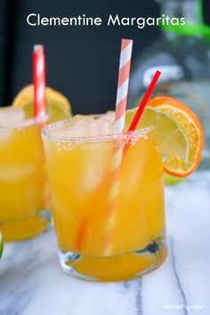 Make your winter a little brighter with these Clementine Margaritas from NoblePig.com.
