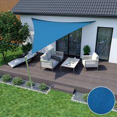 Sonnensegel 600 x 420 x azurblau rechtwinklig-dreieckig wasserabwe Farmhouse Garden, Bonsai Garden, Parasol, Back Gardens, Fruit Trees, Garden Paths, Outdoor Furniture, Outdoor Decor, Sun Lounger