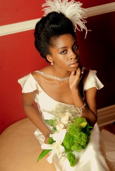 ... another beautiful bridal up-do..