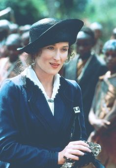 Meryl Streep in beautiful costumes, 'Out of Africa', Costume Design: Milena Canonero (Turin, Italy, Karen Blixen, Meryl Streep, Best Costume Design, I Love Cinema, African Print Dresses, African Prints, African Fabric, African Dress, In And Out Movie