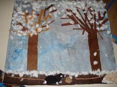 Notre fresque sur l'hiver - Le blog du cycle 1 de Nostang