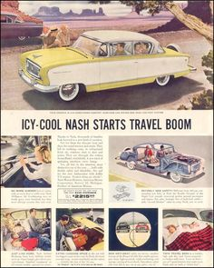 NASH AUTOMOBILES SATURDAY EVENING POST 07/23/1955 INSIDE FRONT