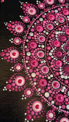 Pink mandala handmade for that person in your life the LOVES pink! Mandala Canvas, Mandala Artwork, Mandala Drawing, Mandala Painting, Pink Painting, Dot Art Painting, Rock Painting Designs, Stone Painting, Dibujos Zentangle Art