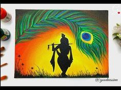 Hey💝my Art lovers,Wishing you all a very happy Janmashtami in Advance , try this simple Krishna painting using easy techniques that will be helpful for you . Oil Pastel Paintings, Oil Pastel Art, Oil Pastel Drawings, Indian Art Paintings, Simple Acrylic Paintings, Tree Paintings, Modern Art Paintings, Oil Pastels, Watercolor Paintings