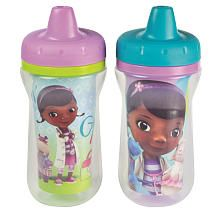 The First Years Disney Girls Doc McStuffins Insulated Sippy Cups - 2-Pack