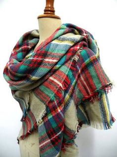 plaid blanket scarf - Google Search