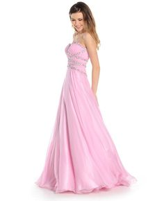 Twirl on the dance floor in this lovely flowing pink dress by Ruby Prom