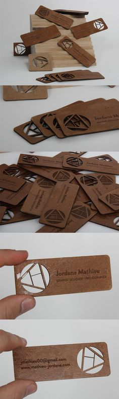 Intricate Cut Out design On A Laser Cut Wooden Business Card