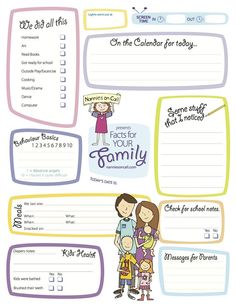 Be a stand out nanny by filling out this form outlining what you did with the children while their parents were out.
