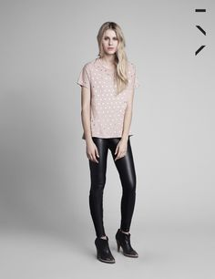 blusa ivy pois nude