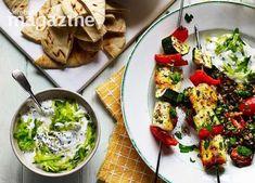 Image: Veggie kebabs with freekeh