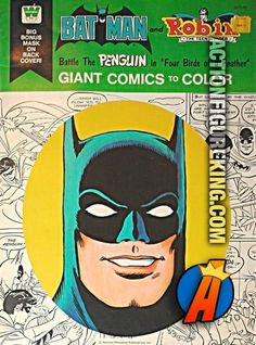 1976 Batman And Robin Battle The Pengiun Four Birds Of A Feather Giant Comics To Color Whitman Coloring Book
