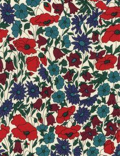 Tissu Liberty Poppy and daisy N x Motif Liberty, Liberty Print, Liberty Fabric, Graphic Patterns, Print Patterns, Pattern Print, Floral Patterns, Liberty Wallpaper, Daisy