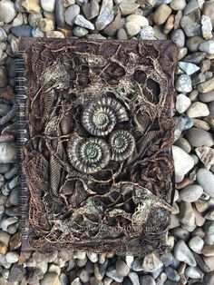 Fabric sculpting with Powertex U.K. Fossil mould ammonites