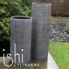 The Ishi Planters #indoor or #outdoor Made of granite stone powder combined with resin and fiberglass. #ishi #planter #landscape #design #garden #patio #deck #homedecor #homedesign  #gldglove #hpmkt #atlmkt #lvmkt #landscapedesign #hospitalitydesign #lobby #granite