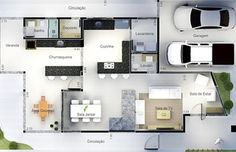 House Plans Mansion Layout Ideas For 2020 Minimalist House Design, Minimalist Home, Modern House Design, House Plans Mansion, My House Plans, Small Modern House Plans, Circle House, Model House Plan, Modern House Facades