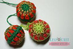 Новогодний шарик крючком. Christmas ball crochet.
