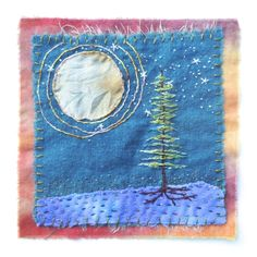 Image of Moonbeam Songs Sashiko Embroidery, Embroidery Stitches, Hand Embroidery, Sewing Art, Sewing Crafts, Sewing Projects, Cotton Silk Fabric, Cotton Thread, Thread Painting