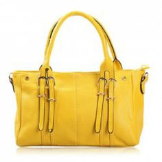 Wholesale Laconic Style Women's Shoulder Bag With Weaving and Solid Color Design (YELLOW), Shoulder Bags - Rosewholesale.com