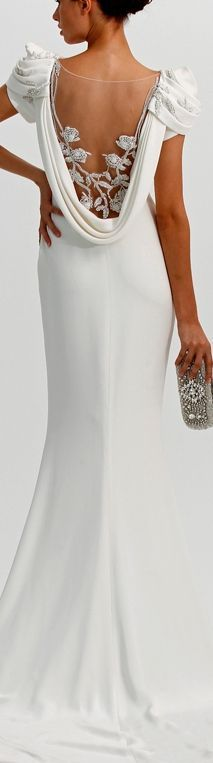 Nyali Beach | Wedding Style: white maxi backless dress @roressclothes closet ideas #women fashion outfit #clothing style apparel