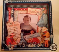 By the Sea Altered Memory box by Clare - so many great fussy cut details #graphic45