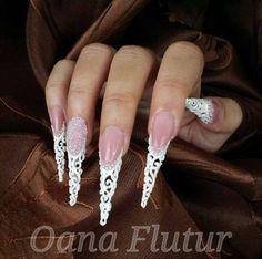 #Csipkézve - egyedi körömminta by Oana Flutur / #Laced - unique nail design by #OanaFlutur