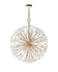 """Remains-lighting-dandelion-chandelier-lighting-ceiling-brass-metal - two 18"""" over the dining room table?"""