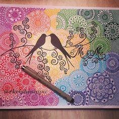 Mandala Art Lesson, Mandala Artwork, Mandala Painting, Doodle Art Drawing, Zentangle Drawings, Mandala Drawing, Zentangles, Madhubani Art, Madhubani Painting