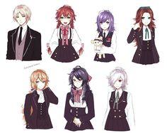 diabolik lovers genderbend | i love this so much! shoujo anime, vampires, genderbend