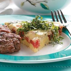 Tomato Herb Frittata Recipe from Taste of Home