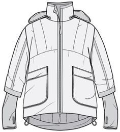 59 New Ideas Fashion Drawing Sketches Jacket Flat Drawings, Flat Sketches, Technical Drawings, Fashion Design Drawings, Fashion Sketches, Fashion Drawings, Moda Skate, Fashion Design Template, Clothing Sketches