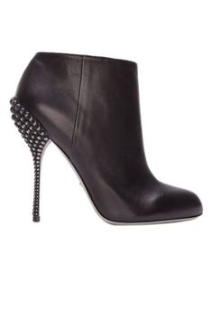 The Basics. Sergio Rossi black leather studded heel booties from @ElleMagazine Love these!