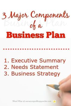 Starting a nonprofit business complete business plan template 3 major components of a business plan for nonprofits and how to start writing them with flashek Image collections