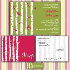 Birch Tree Forest Custom Wedding Invitation by InvitingMoments