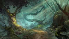 Dungeons & Dragons Forest, Ned Rogers on ArtStation at http://www.artstation.com/artwork/dungeons-dragons-forest