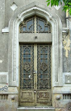 Neo-Romanian style doorway, Bucharest