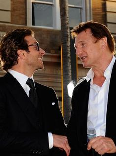 bradley cooper, liam neeson together; just imagine the testosterone and the possibilities