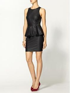 Yes for Vegan Leather! Rhyme & Echo Vegan Leather Peplum Dress | Piperlime
