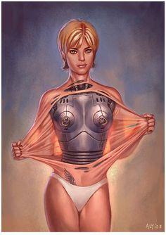 Robot Girl, Aly Fell, futuristic, future, cyborg, cyber, android, sci-fi, future girl