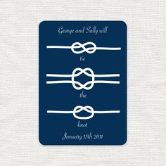 nautical wedding save the date - tie the knot - diy printable digital - engagement announcement, sea beach boating fishing navy preppy blue Diy Save The Dates, Wedding Save The Dates, Plan My Wedding, Wedding Planning, Wedding Ideas, Wedding Fun, Wedding Cake, Wedding Decor, Save The Date Postcards